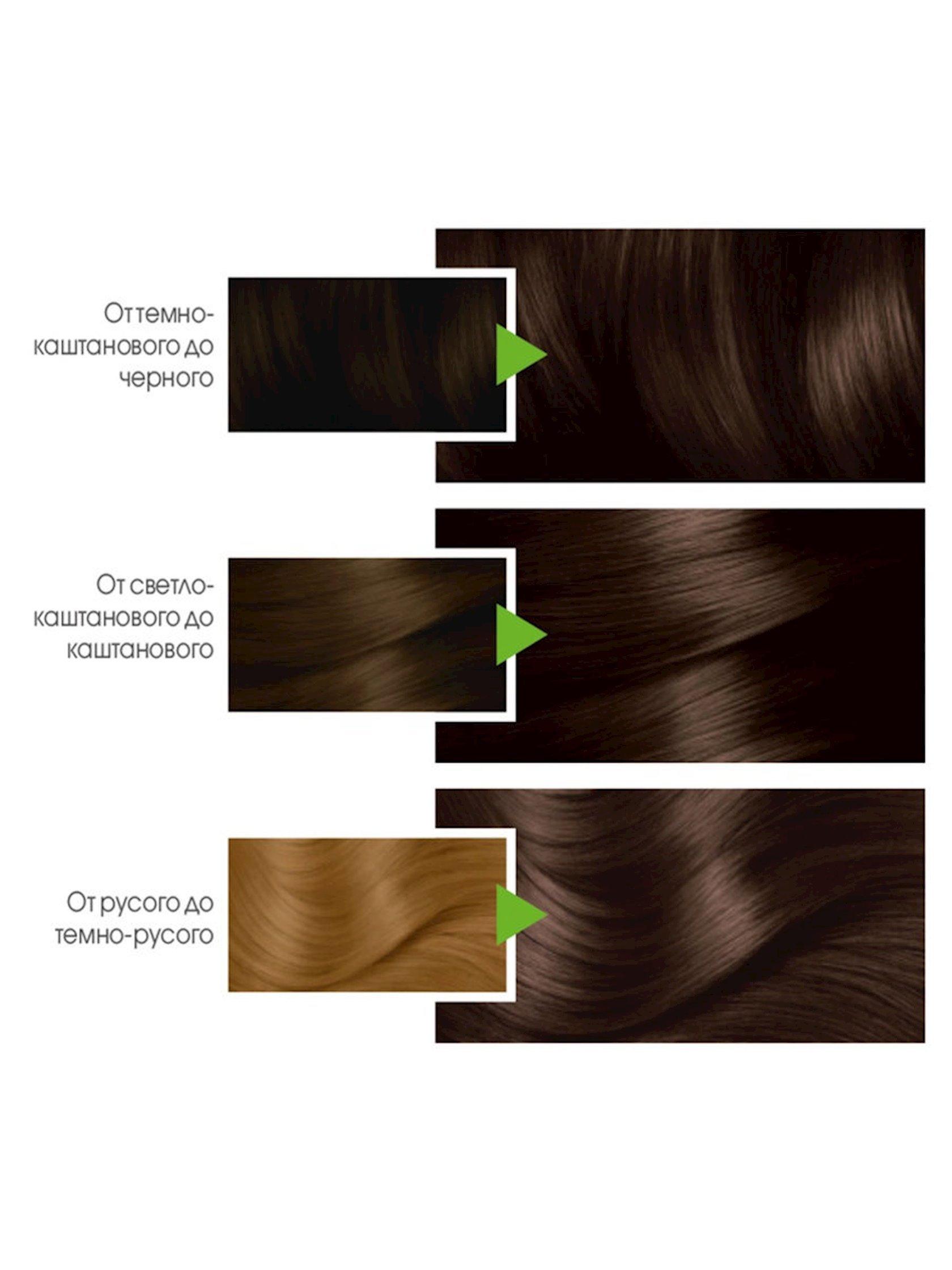 Saç üçün qalıcı krem-boya Garnier Color Naturals 3 Tünd şabalıd