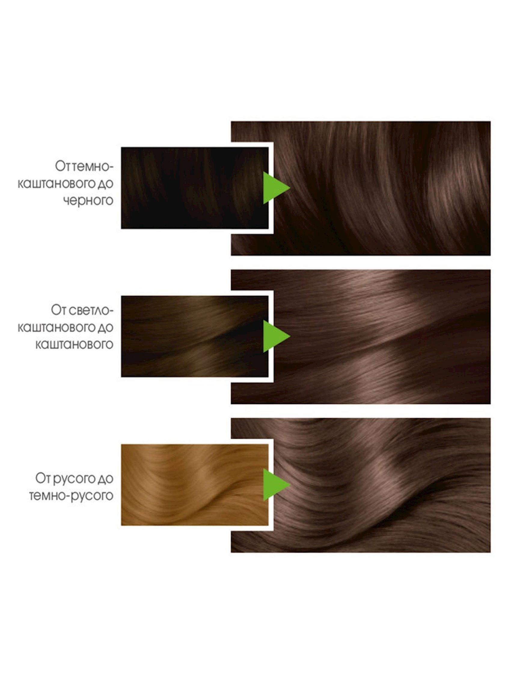 Saç üçün qalıcı krem-boya Garnier Color Naturals 6.00 Dərin açıq şabalıdı.