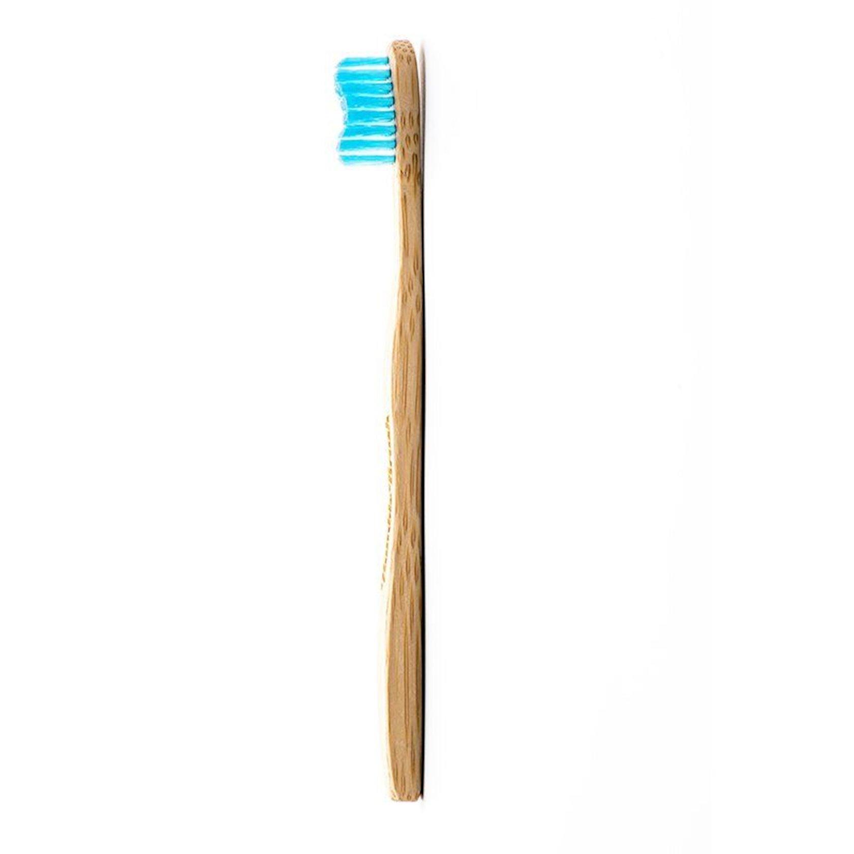 Diş fırçası uşaq üçün Humble Co Brush Ultra Soft, ultra yumşaq, bambuk, mavi