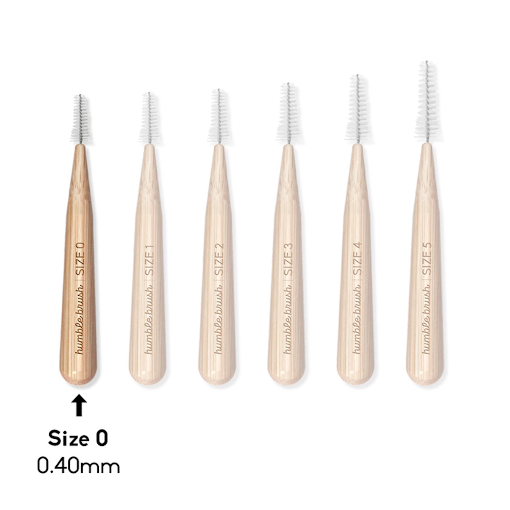 Dişarası bambuk fırçası Humble Co, 0, 4 mm, 6 ədəd