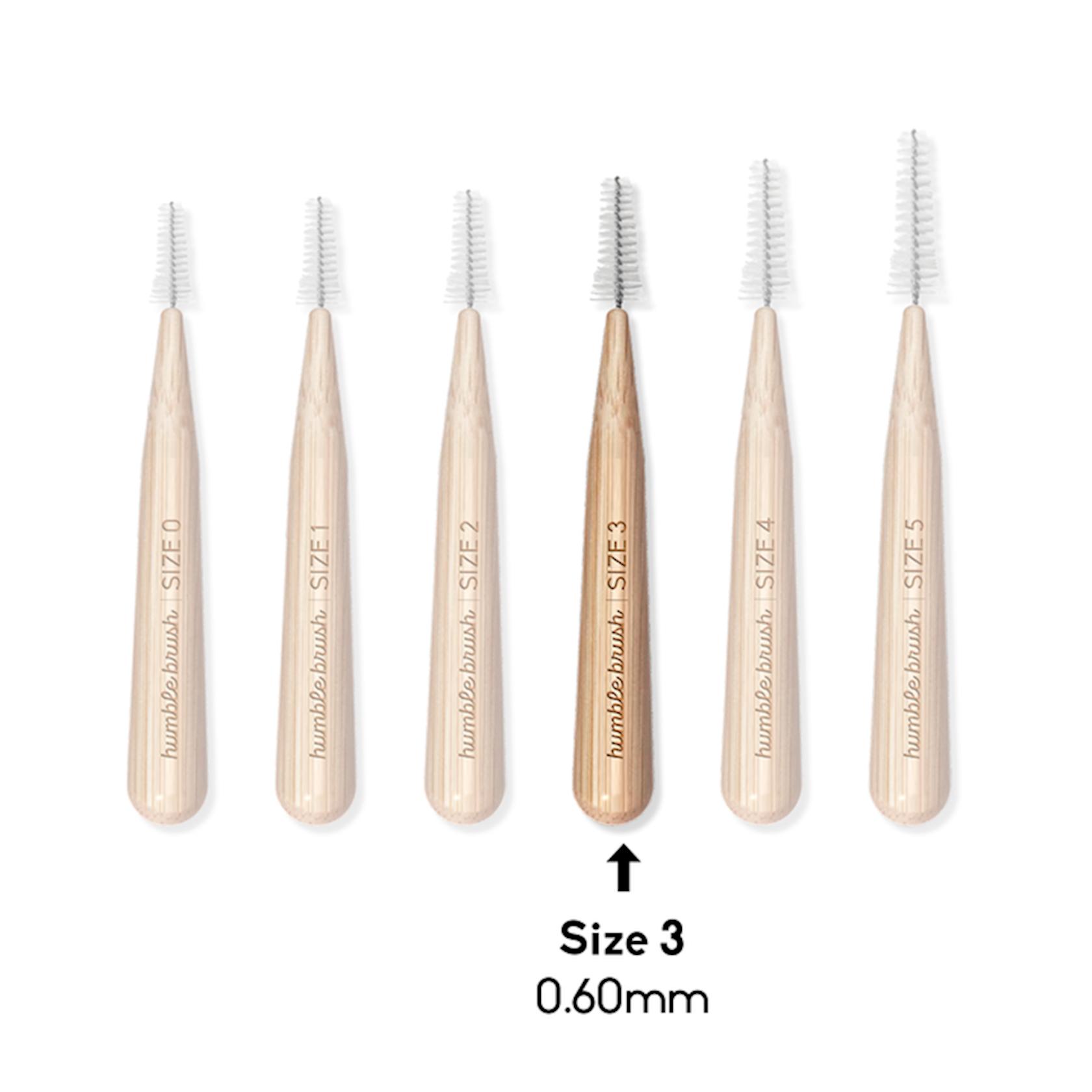 Dişarası bambuk fırçası Humble Co, 0, 6 mm, 6 ədəd
