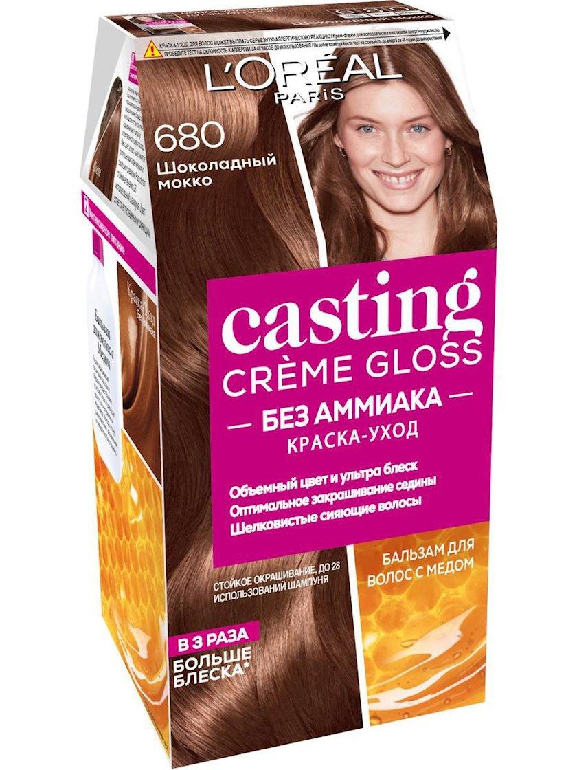 Saç üçün qalıcı krem-boya L'Oreal Paris Casting Creme Gloss ammonyaksız 680 Şokoladlı mokka