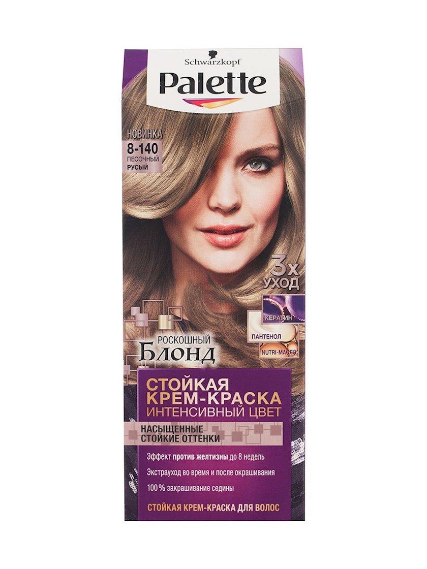 Saç üçün qalıcı krem-boya Palette Intensive Color 8.140 Qum sarışın