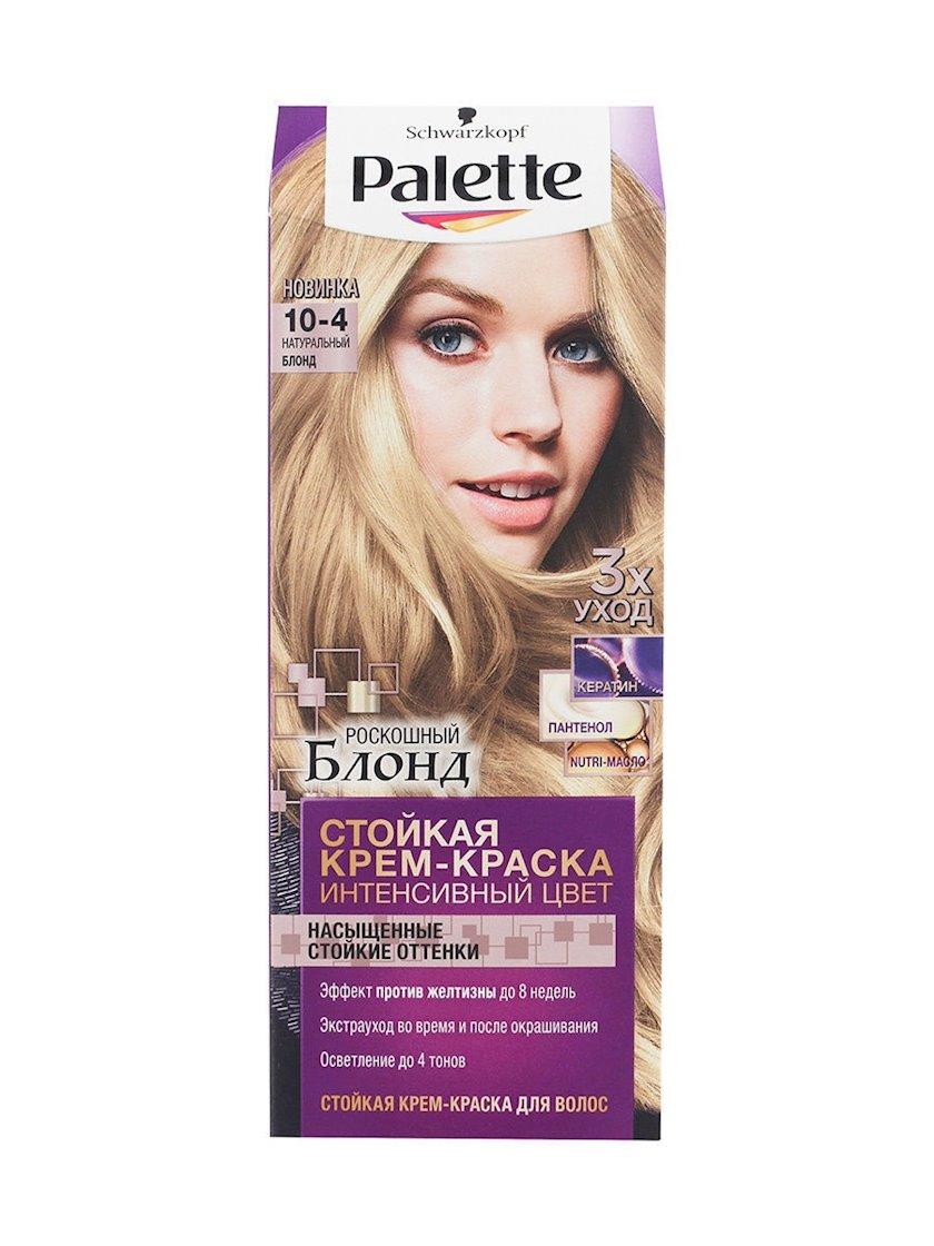 Saç üçün qalıcı krem-boya Palette Intensive Color 10.4 Təbii blond