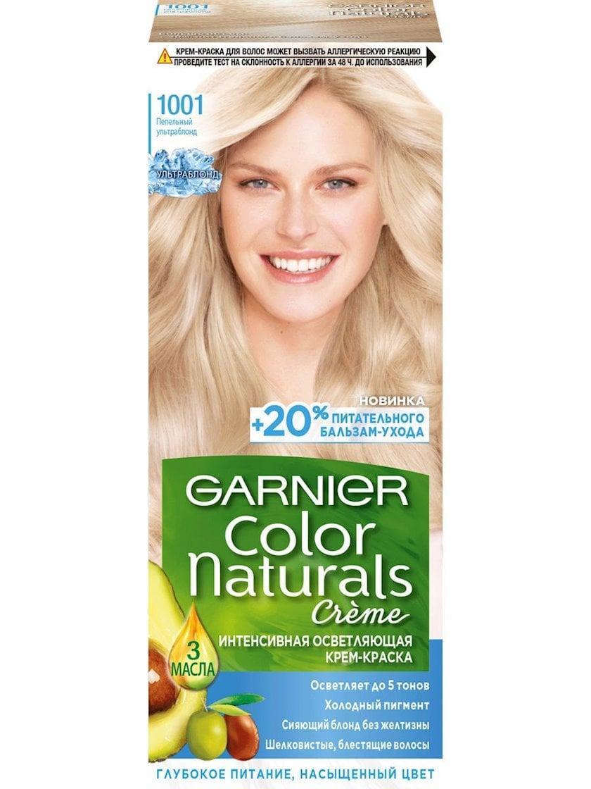Saç üçün qalıcı krem-boya Garnier Color Naturals 1001 Kül Ultra sarışın