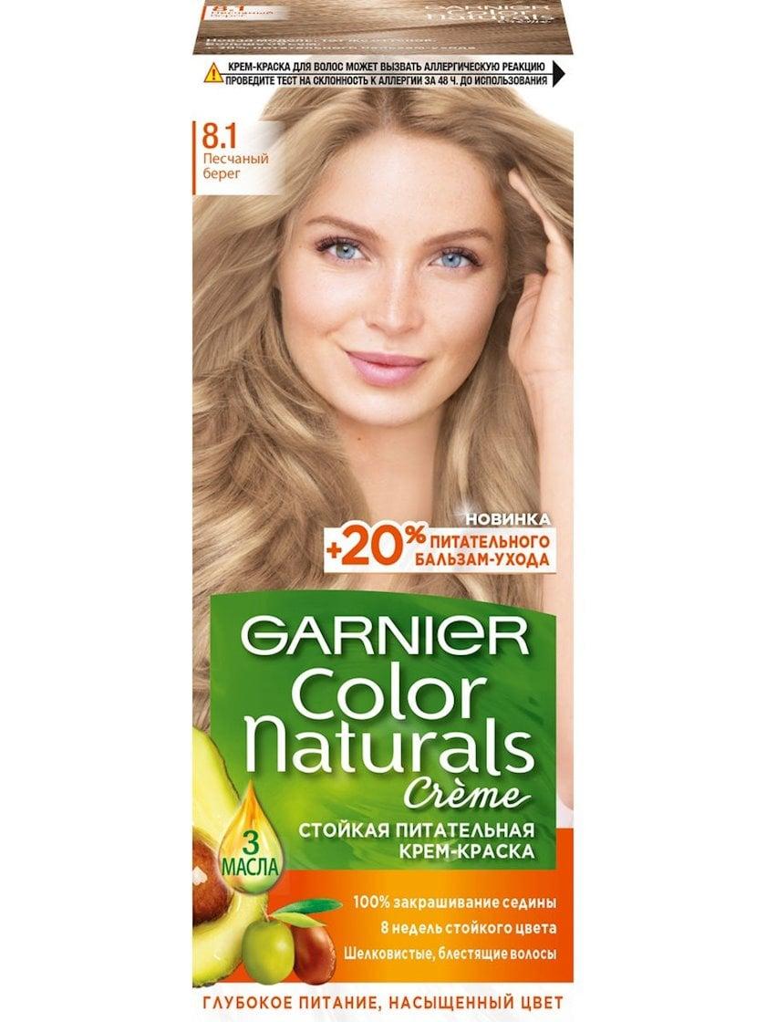 Saç üçün qalıcı krem-boya Garnier Color Naturals 8.1 Qumlu sahil