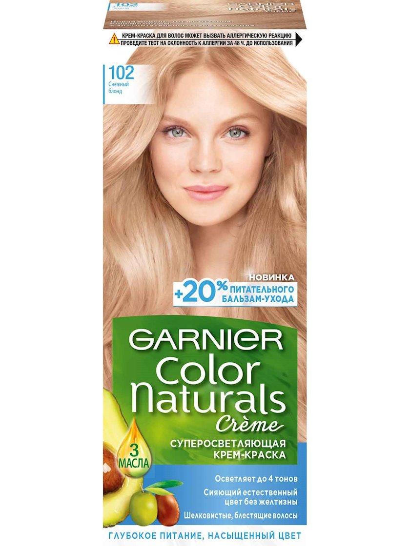 Saç üçün qalıcı krem-boya Garnier Color Naturals 102 Qarlı sarışın