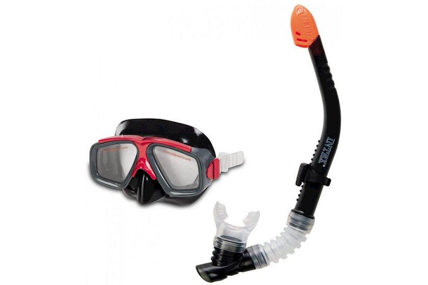 Üzgüçülük dəsti Intex 55949 Surf Rider, maska+boru, 8 yaşdan