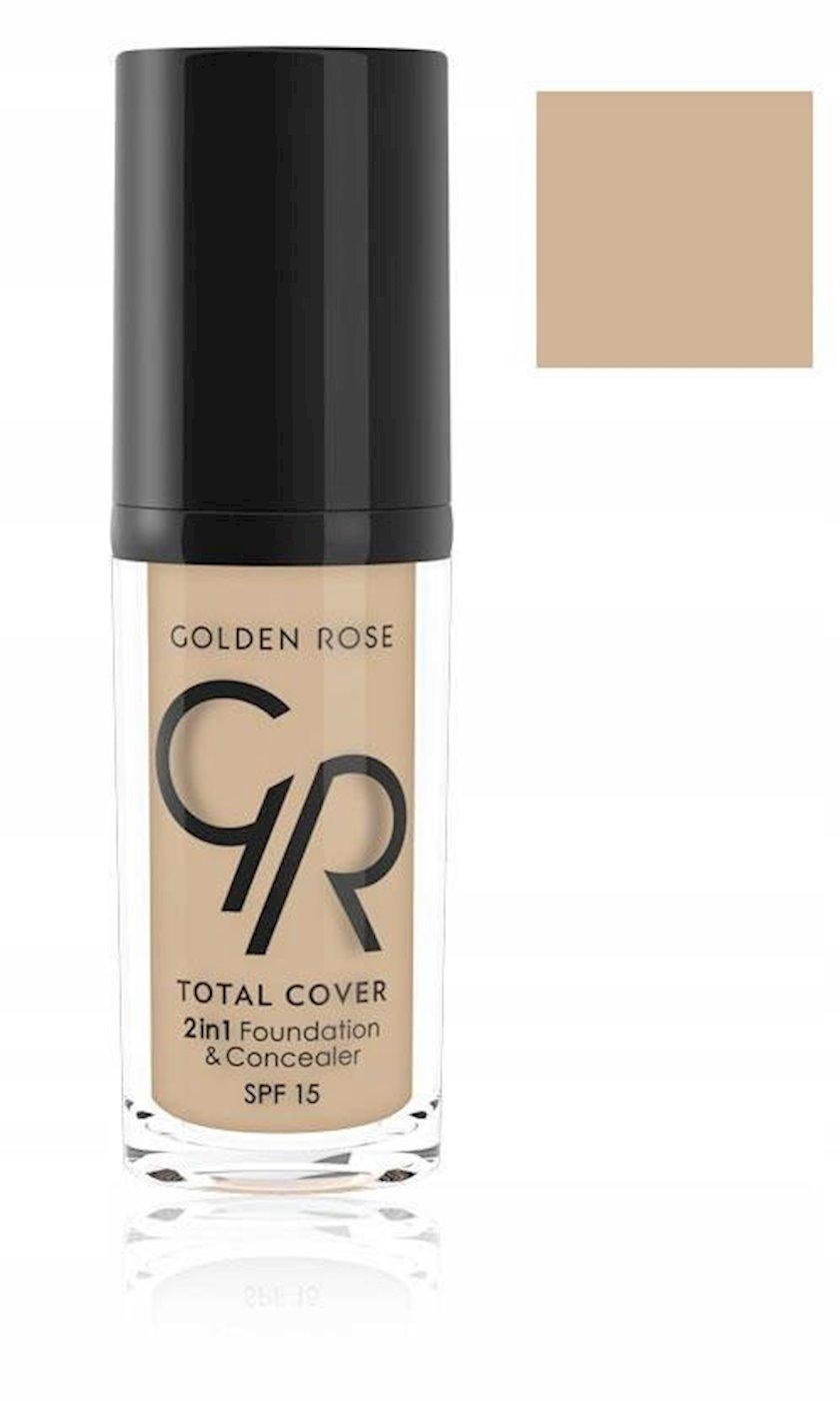 Tonal vasitə və konsiler Golden Rose Total Cover 2in1 Foundation&Concealer No 05