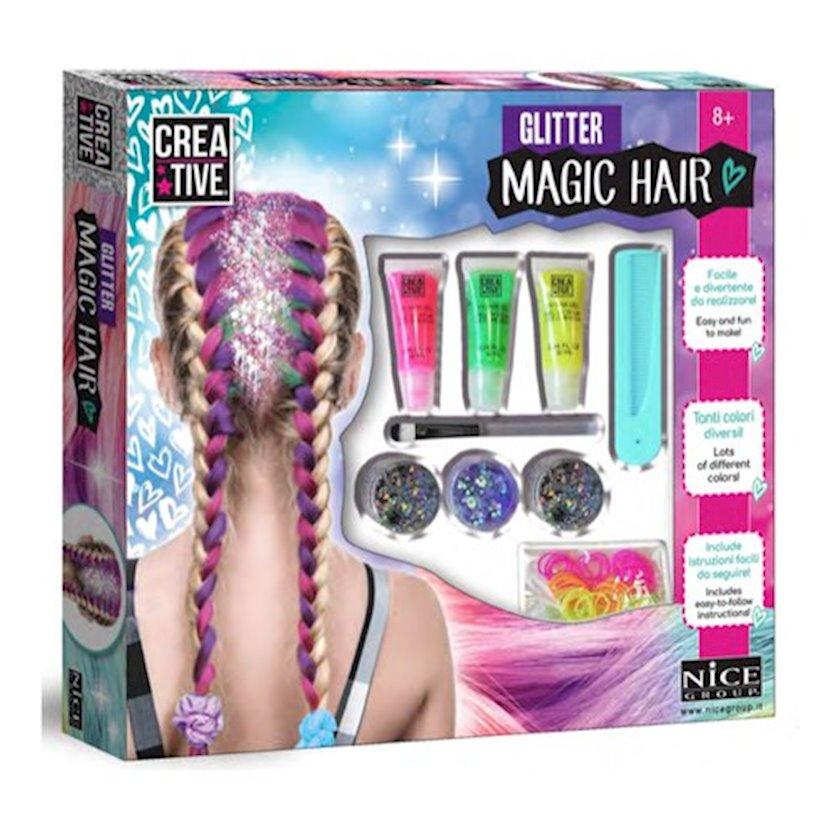 Детский набор аксессуаров для волос Nice Glitter Magic Hair Mega Set, 8+ лет