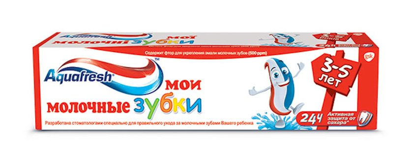 Diş pastası uşaqlar üçün Aquafresh Mənim süd dişlərim 3-5 yaş, 50 ml