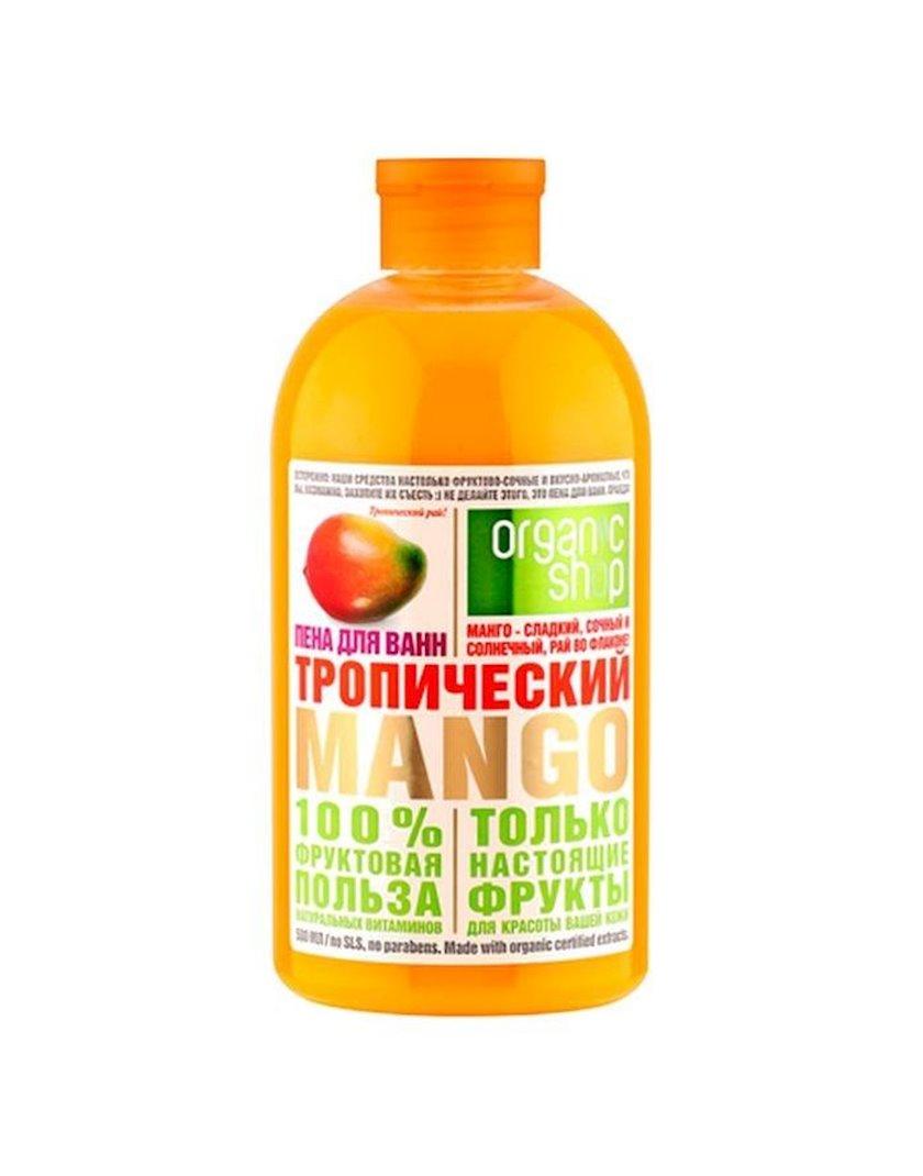 Vanna üçün köpük Organic Shop Фрукты, tropik manqo, 500 ml