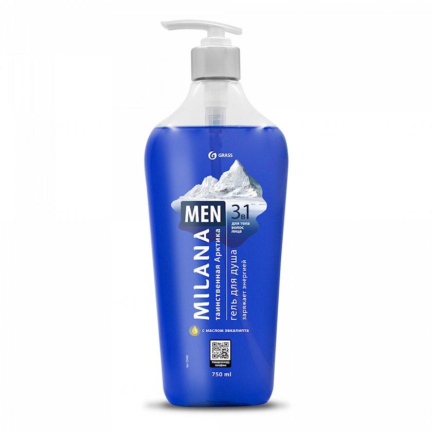 Duş geli Grass Milana MEN Sirli arktika evkalipt yağı ilə 750 ml
