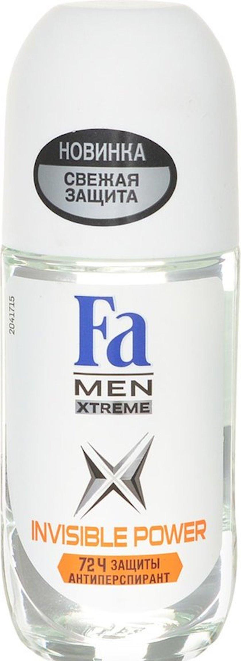 Antiperspirant diyircəkli Fa  Men Xtreme Invisible 50 ml