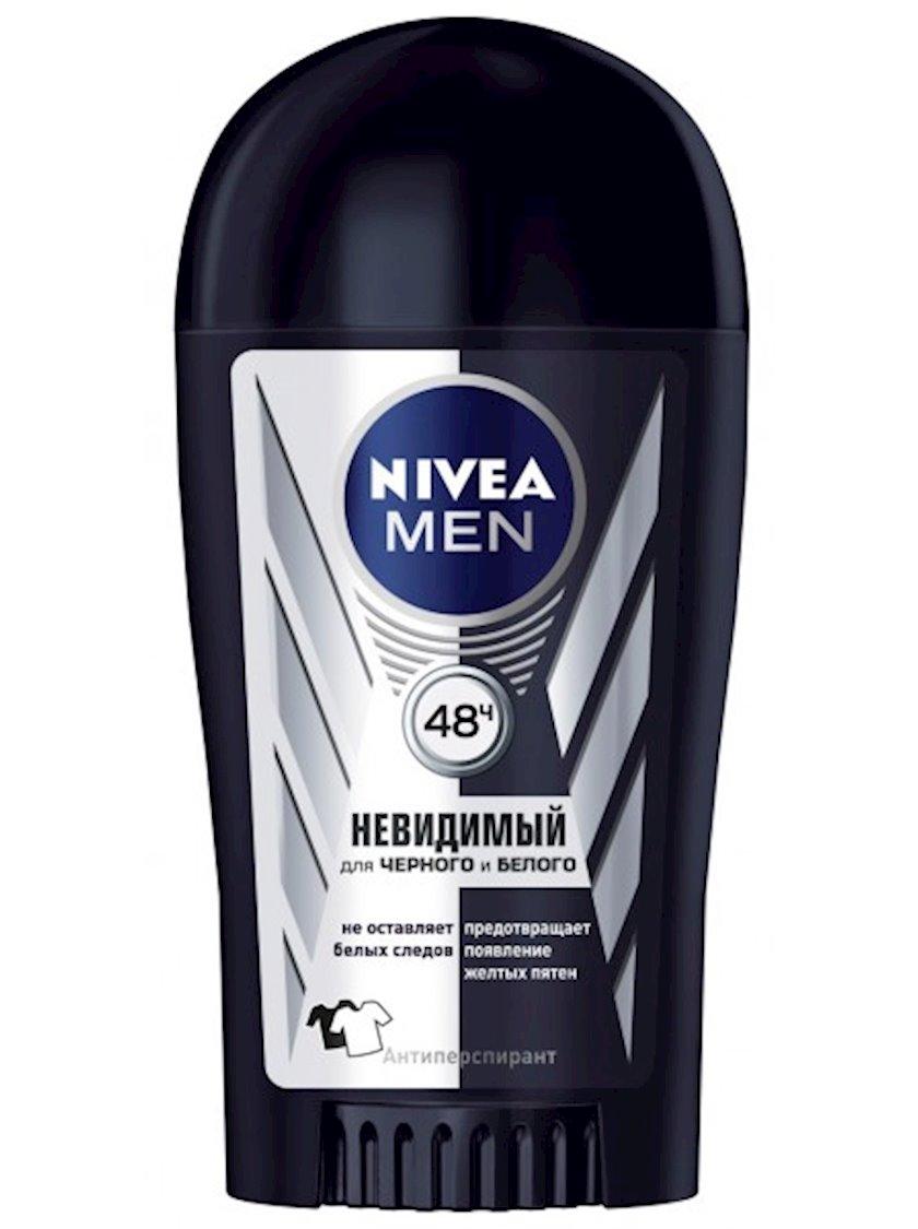 Antiperspirant çubuq şəkilli Nivea Men Original Ağ və Qara   Görünməz 40 ml
