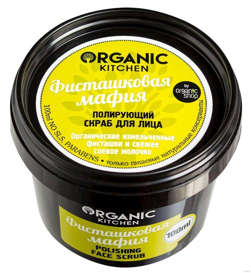 Üz üçün cilalayıcı skrab Organic Shop Organic Kitchen  Fıstıq mafiyası 100 ml
