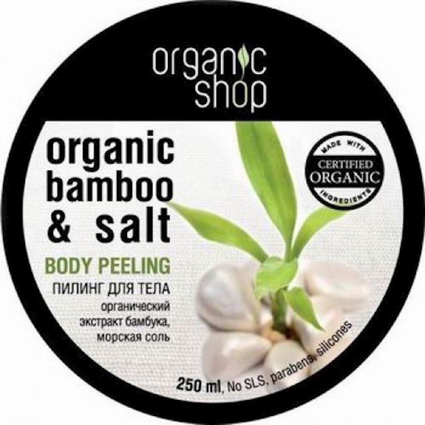 Pilinq bədən üçün Organic Shop Tropik bambuk, 250 ml