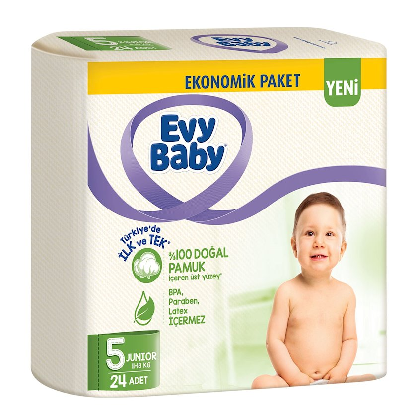 Bezlər körpələr üçün Evy Baby 5(11-18 kq), 24 əd