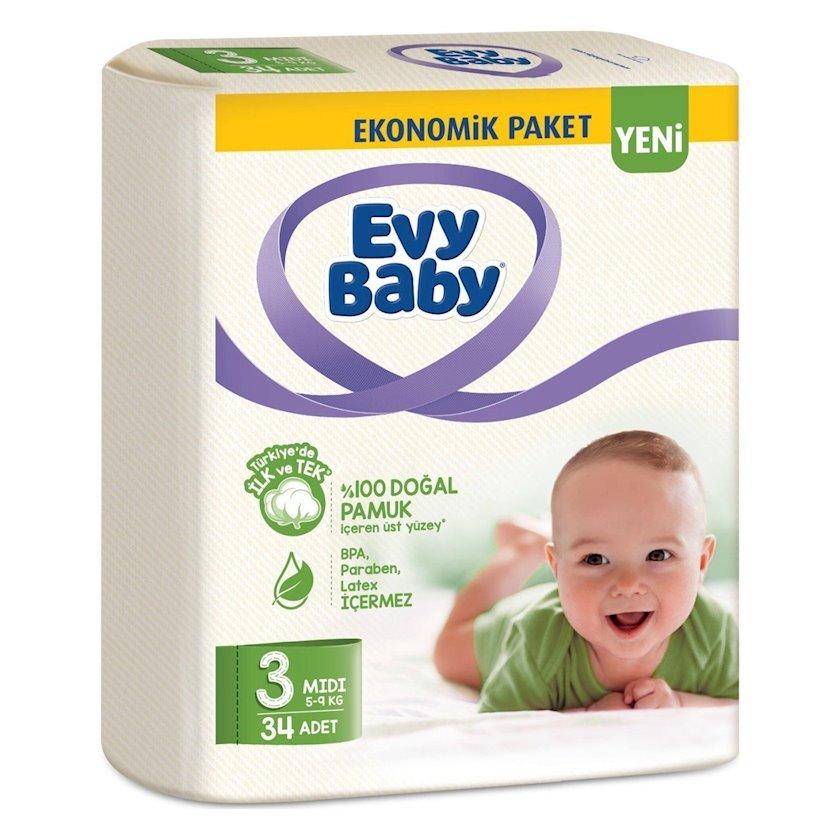 Bezlər körpələr üçün Evy Baby 3(5-9 kq), 34 əd