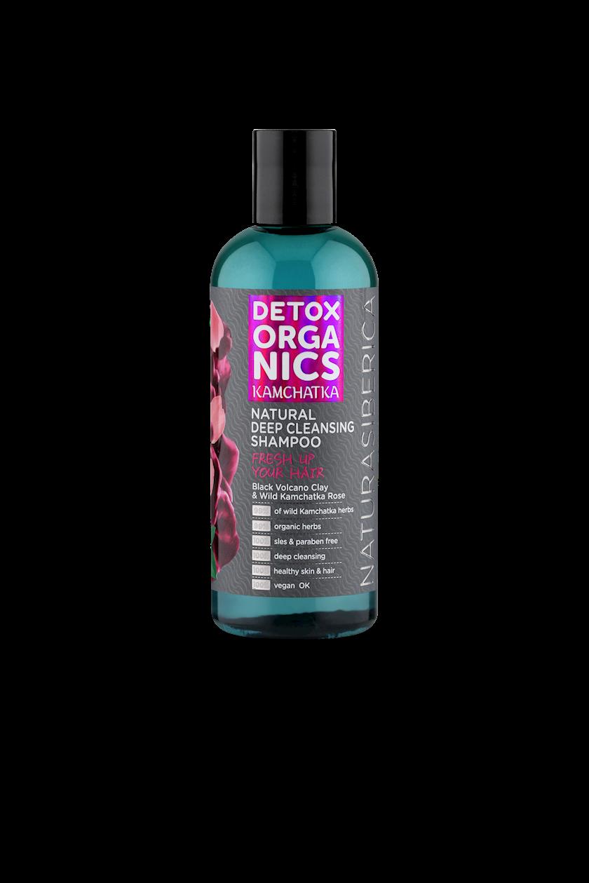 Şampun Natura Siberica Detox organics Kamchatka, saçları dərindən təmizlənmısi üçün, 270 ml