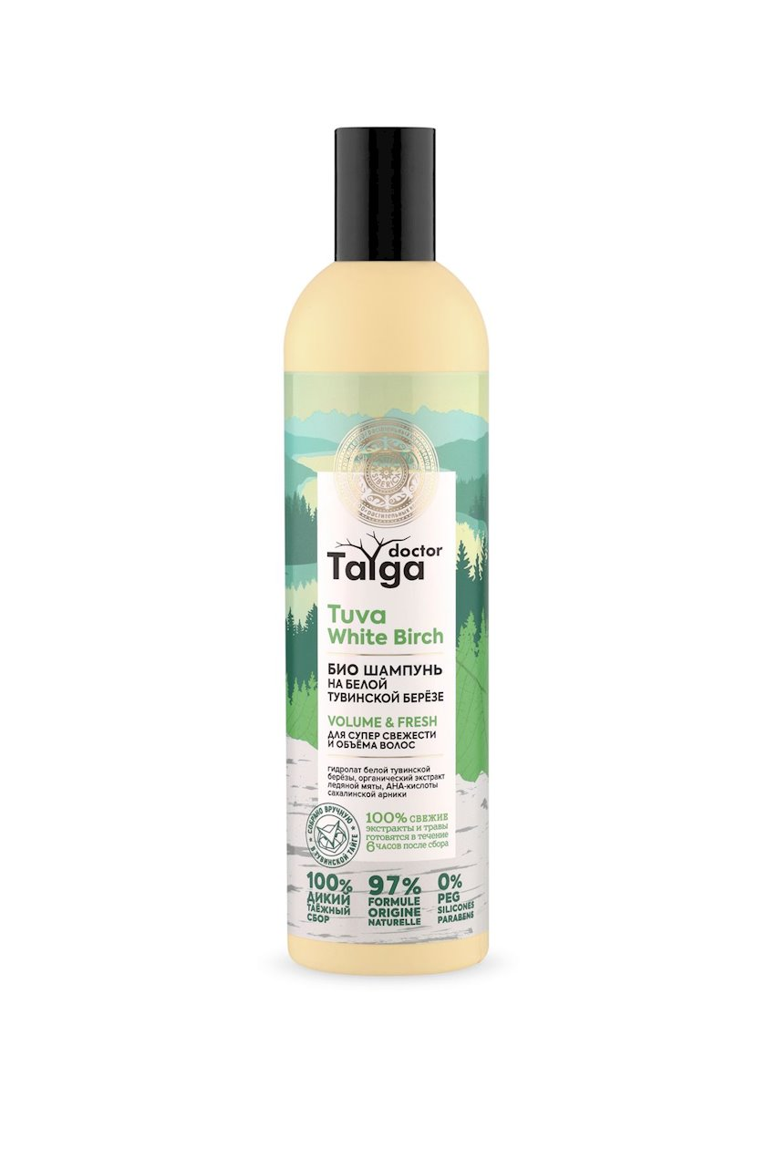 Şampun Natura Siberica Doctor Taiga Volume&Fresh, Təravət və saç həcmi üçün 400 ml