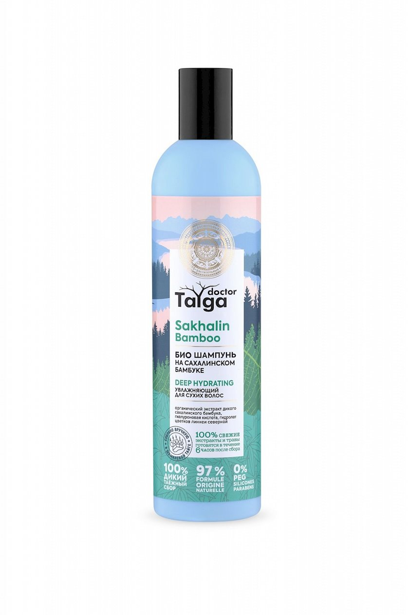 Şampun Natura Siberica Doctor Taiga, Nəmləndirici, Quru Saçlar üçün, 400 ml