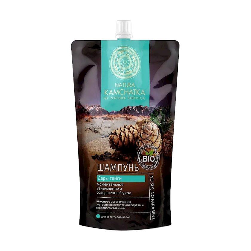 "Şampun Natura Siberica Natura Kamchatka ""Дары тайги"", Bütün saç növləri üçün, дой-пак, 500 ml"