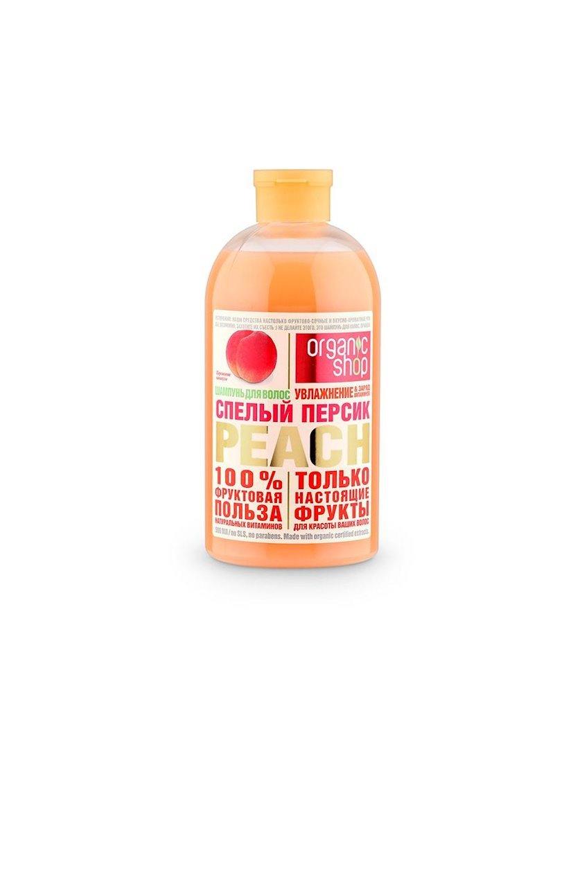"Şampun Organic Shop Home Made ""Спелый персик"", 500 ml"