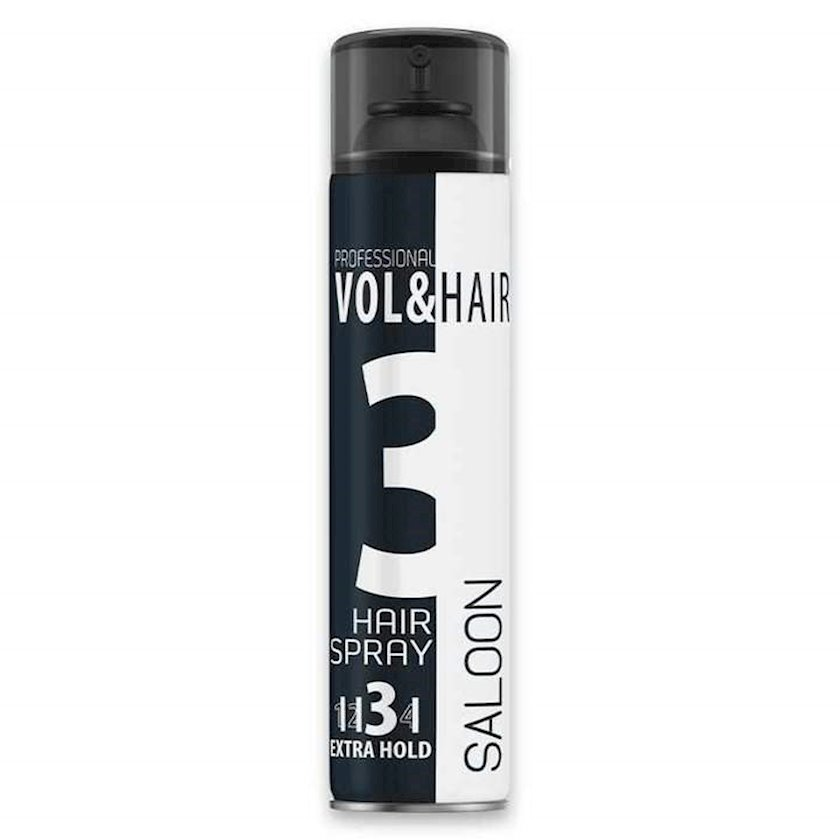 Saçlar üçün lak Vol&Hair Saloon 3 Extra Hold, 500 ml