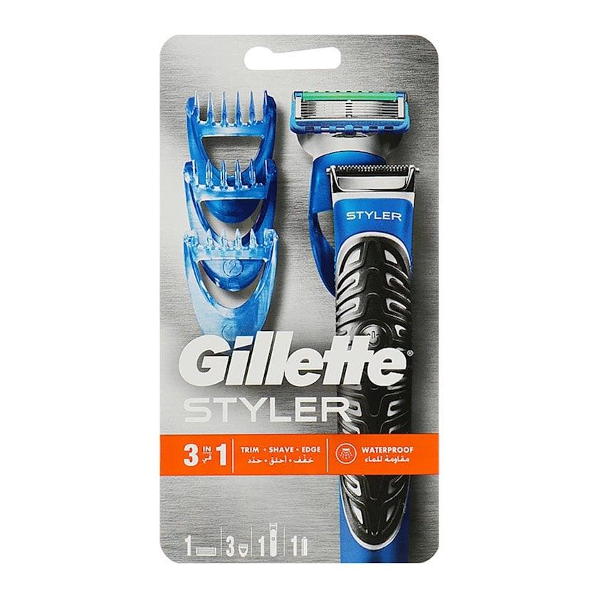 Ülgüc-stayler Gillette Fusion5 ProGlide Styler 1 dəyişdirilə bilən  kasset ProGlide Power və 3 başlıq bığ və saqqalın modelləşdirilməsi üçün