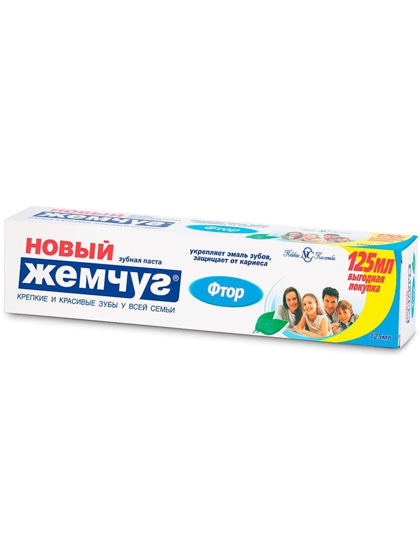 """Diş məcunu """"Новый Жемчуг"""" Ftor, 125 ml"""