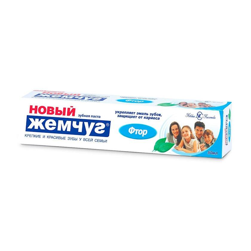 """Diş məcunu """"Новый Жемчуг"""" Ftor, 50 ml"""