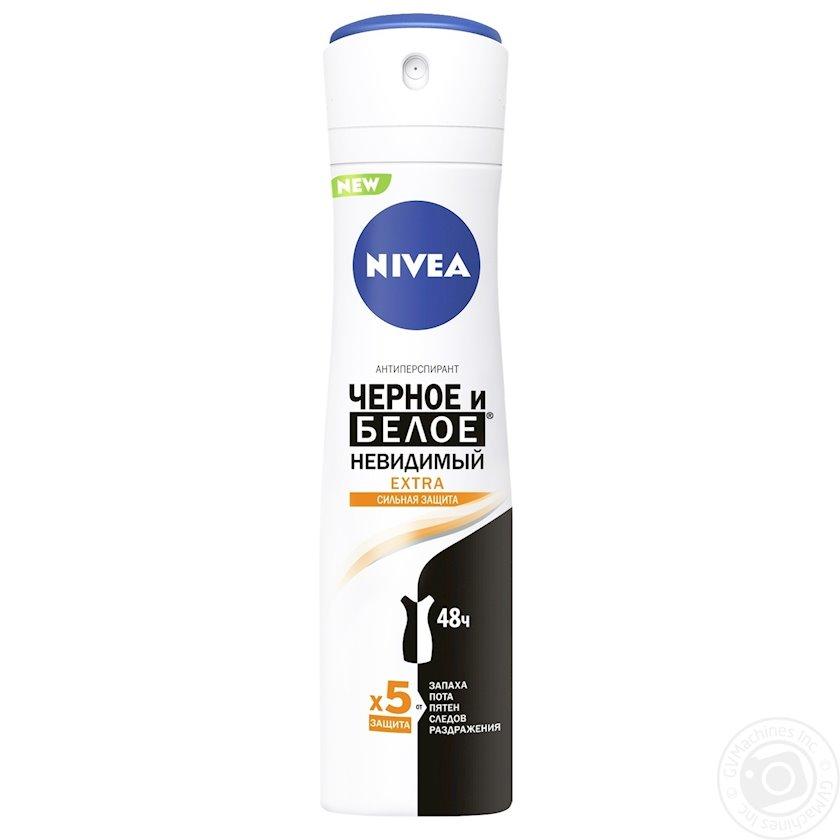 Dezodorant-antiperspirant Nivea Extra Görünməz qara və ağ 150 ml
