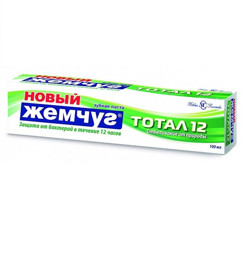 """Diş məcunu """"Новый Жемчуг"""" Cəmi 12 təbiətdən ağartma, 100 ml"""