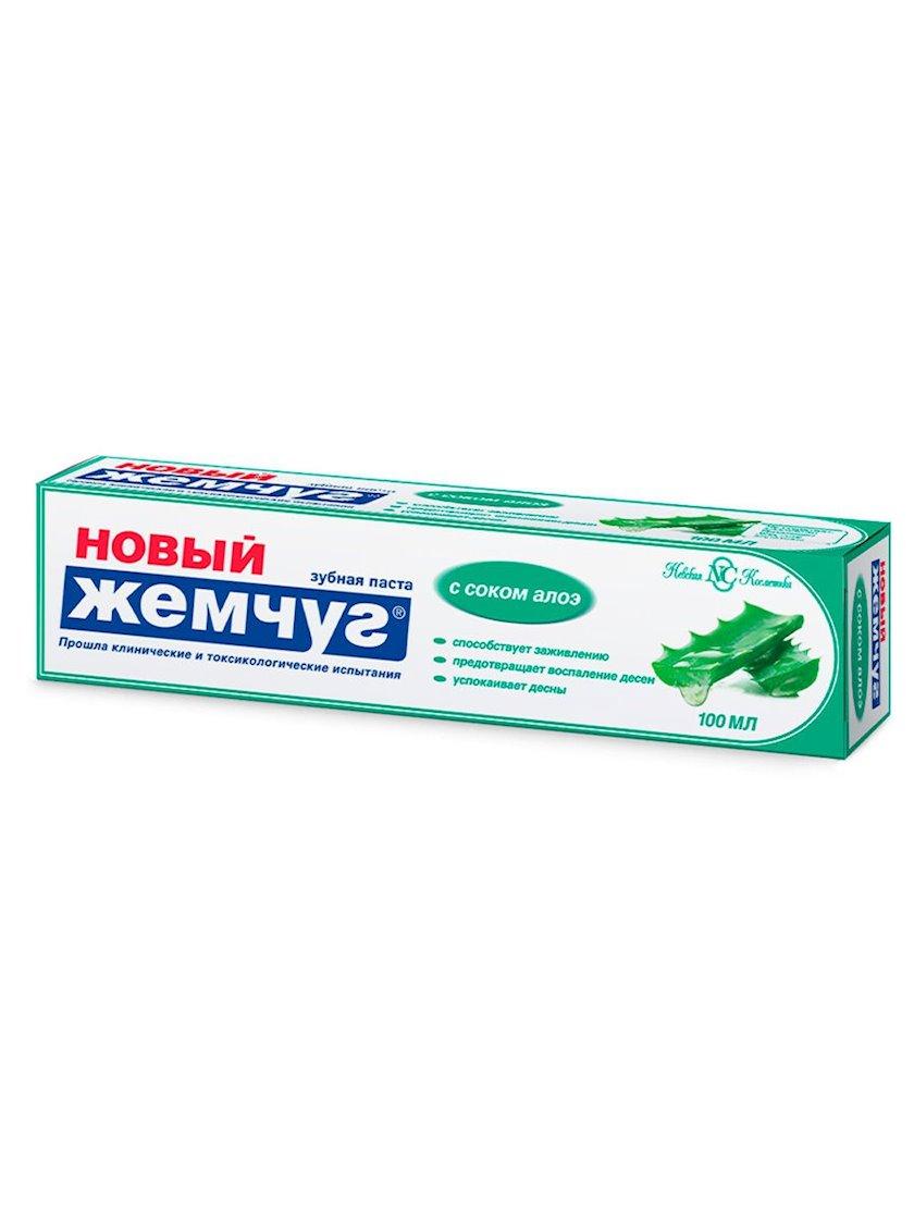 """Diş məcunu """"Новый Жемчуг"""" Aloye suyu ilə, 100 ml"""
