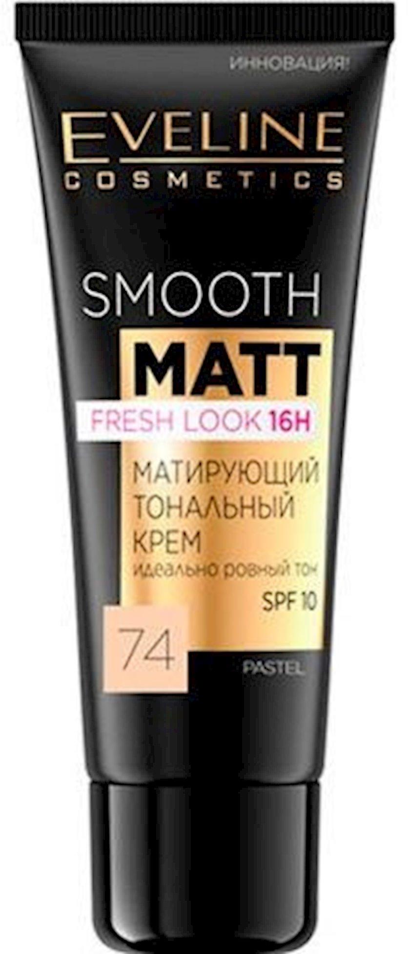 Matlaşdırıcı tonal krem Eveline Smooth Matt SPF10 ton 74 Pastel 30 ml