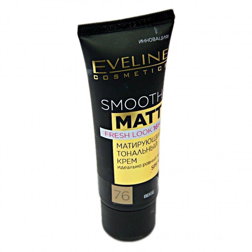 Matlaşdırıcı tonal krem Eveline Smooth Matt SPF10 ton 76 Beige 30 ml
