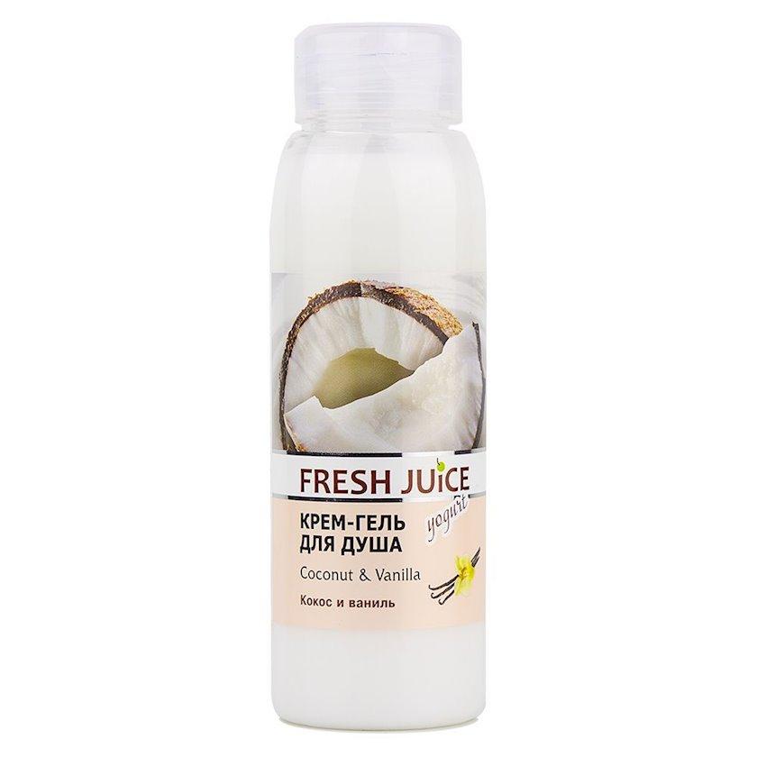 Krem-gel duş üşün Fresh Juice Coconut & Vanilla 300 ml
