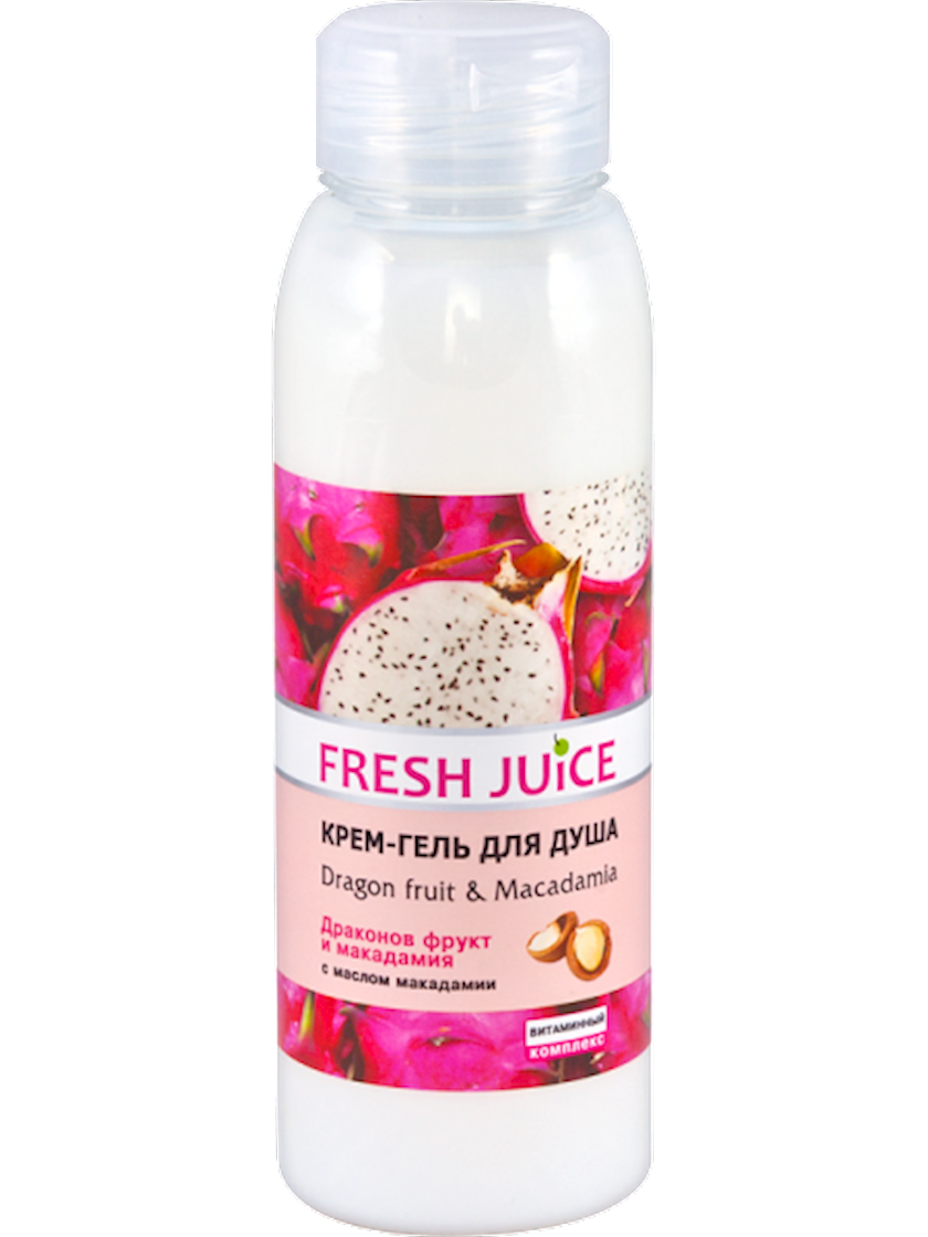 Krem-gel duş üşün Fresh Juice Dragon fruit & Macadamia 300 ml