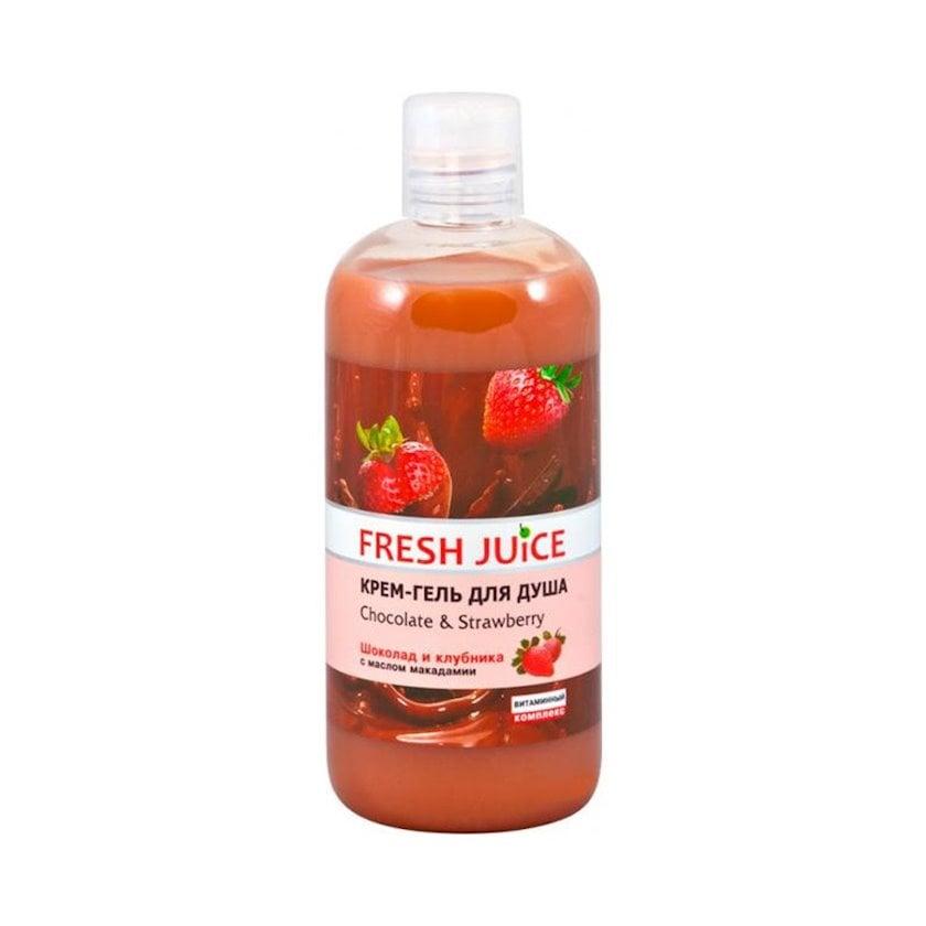 Krem-gel duş üşün Fresh Juice Chocolate & Strawberry 500 ml