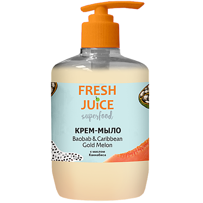 Maye krem-sabun Fresh Juice Superfood Baobab & Caribbean Gold Melon 460 ml