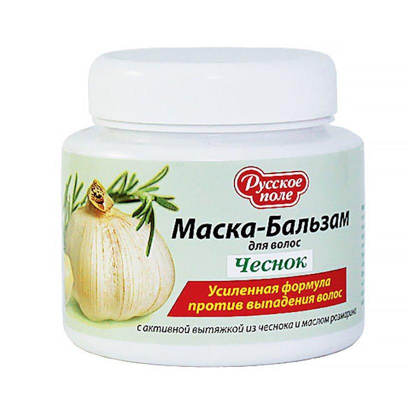 Maska-balzam saç üçün Русское поле saçın tökülməsinə qarşı sarımsaq və rozmarin yağı ilə, 250 ml