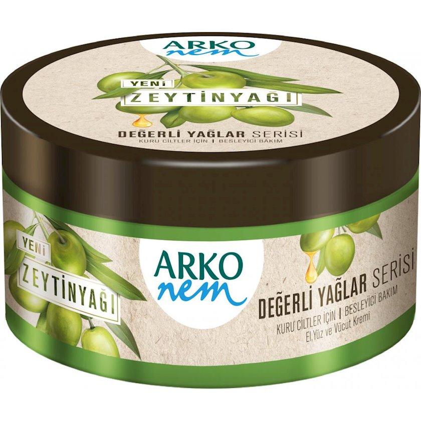 Nəmləndirici krem üz və bədən üçün Arko Zeytun yağı, 250 ml
