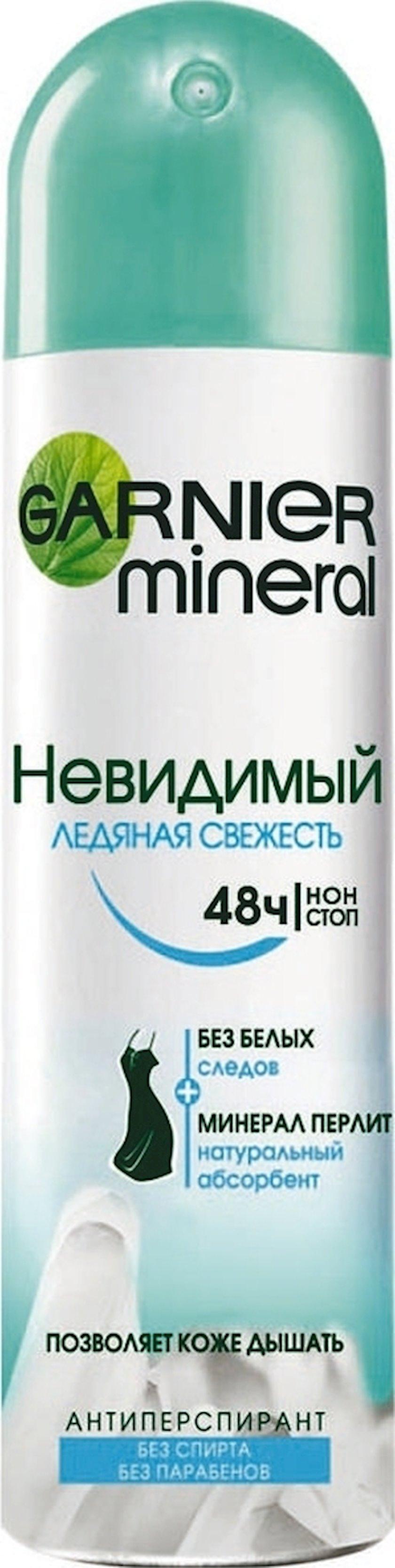 Dezodorant-antiperspirant Garnier Mineral Görünməz Buz təravəti 150 ml