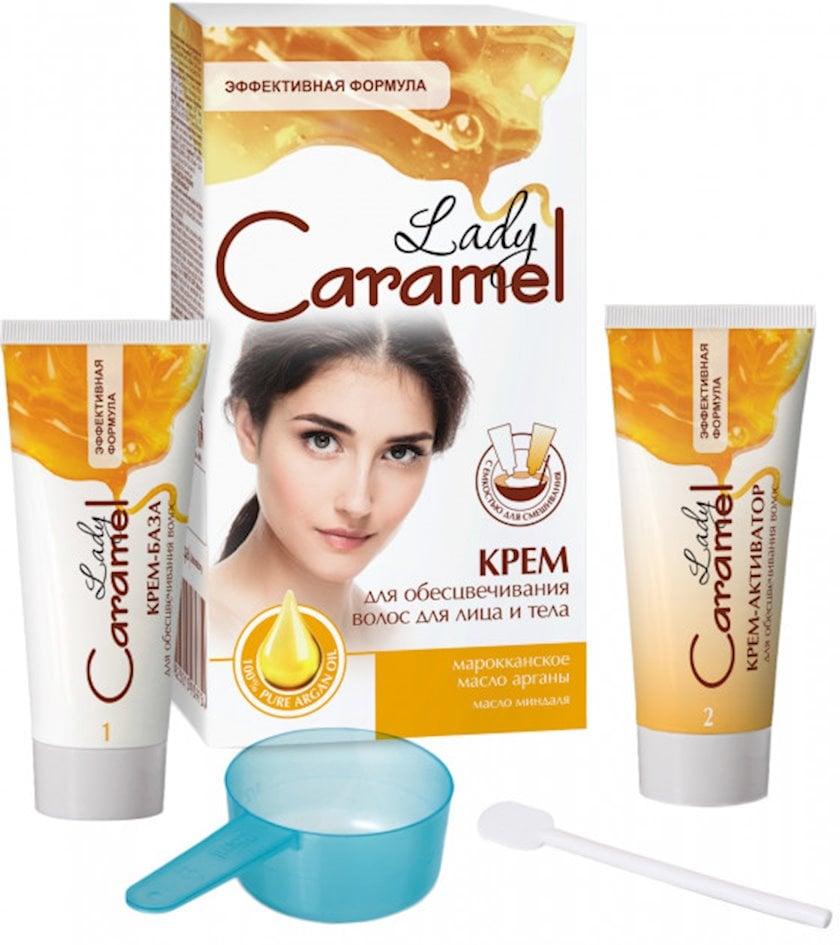 Krem Lady Caramel üz və bədən tüklərinin rəngini açmaq üçün, 2 x 50 ml