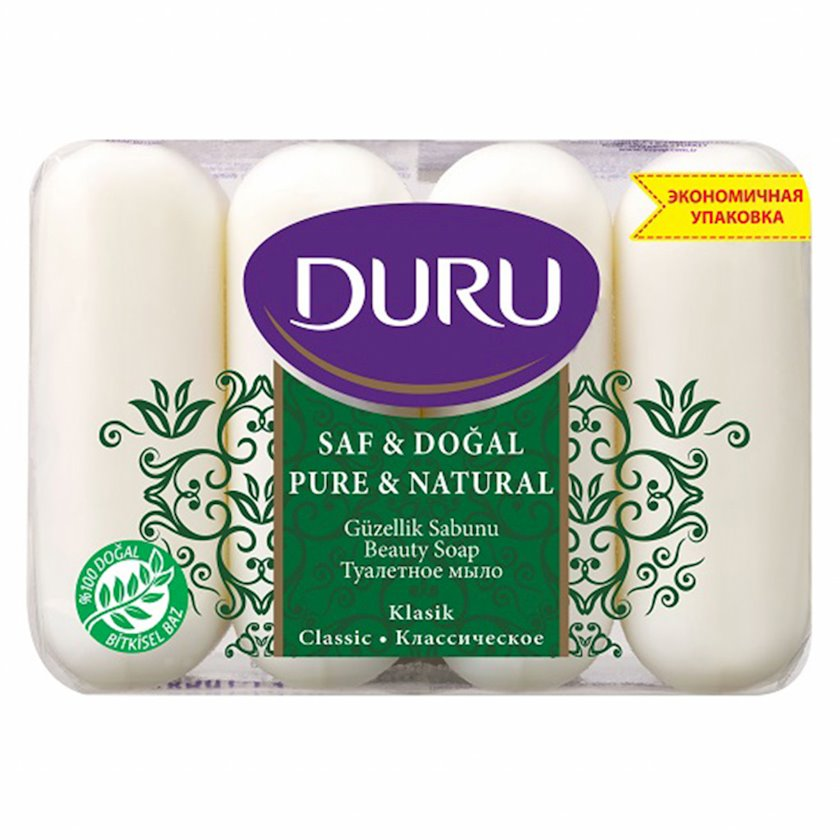 Əl sabunu Duru Pure and Natural Klassik 4 əd x 85 q