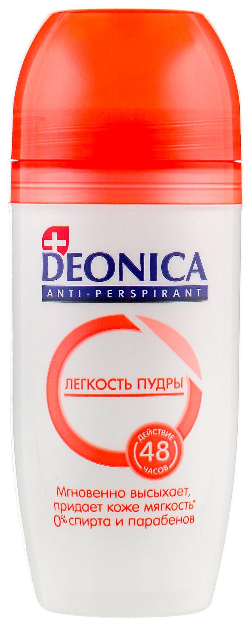 Antiperspirant diyircəkli Deonica Pudranın Yüngüllüyü 50 ml