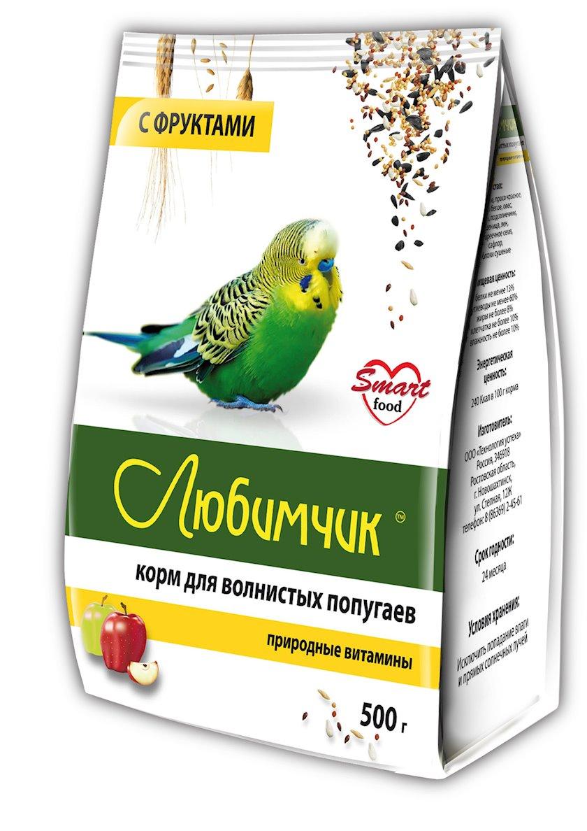 Yem dalğalı tutuquşular üçün Любимчик təbiətin vitaminləri meyvələrlə 500 q