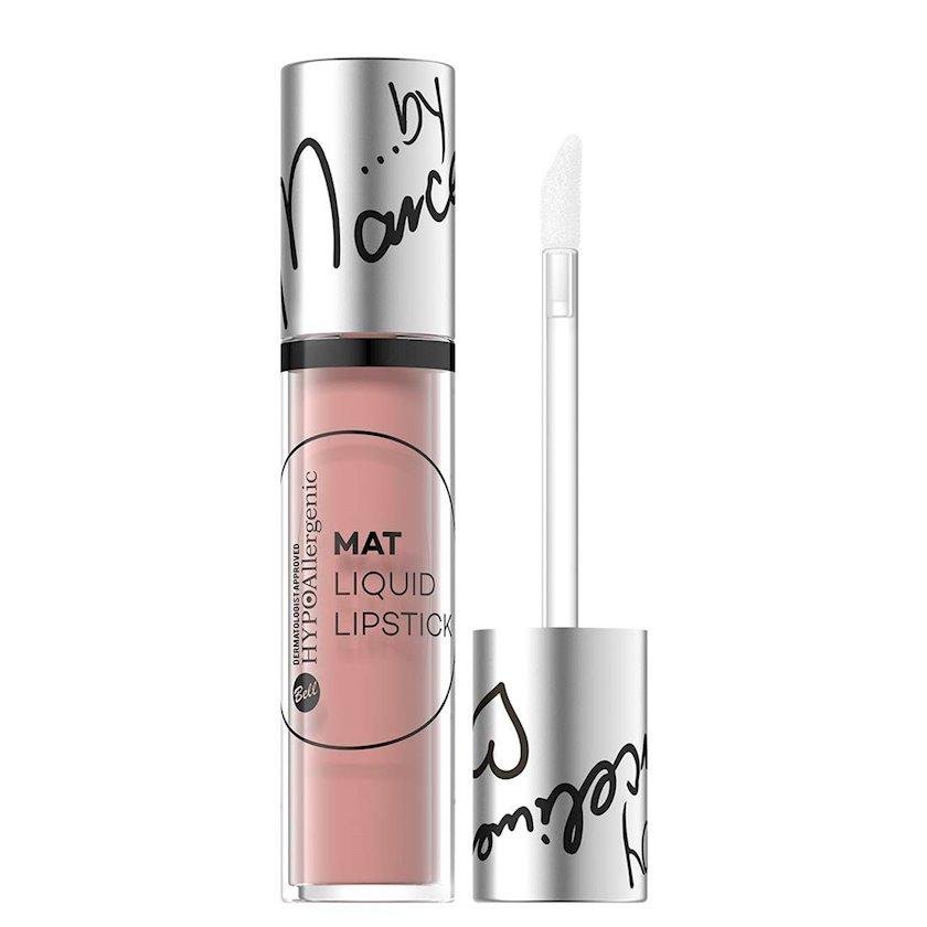 Dodaq üçün mat pomada Bell Cosmetics HypoAllergenic Mat Liquid Lipstick çalar 02