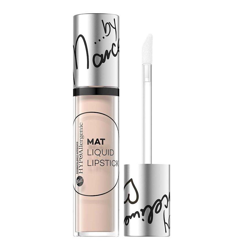 Dodaq üçün mat pomada Bell Cosmetics HypoAllergenic Mat Liquid Lipstick çalar 06